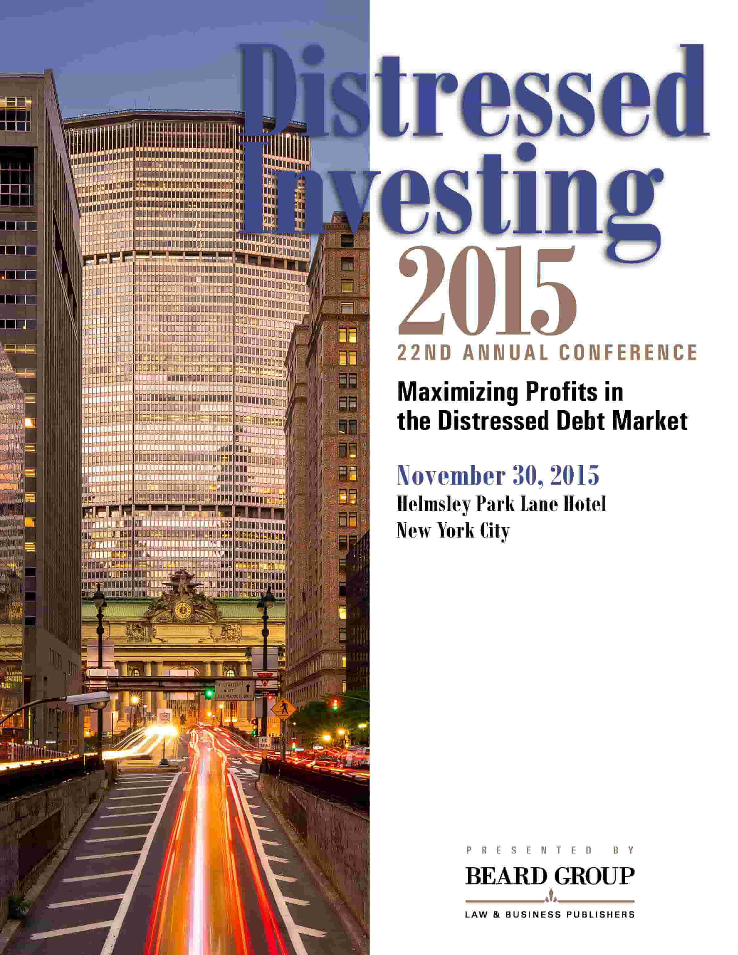 22nd Annual Distressed Investing conference