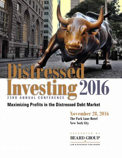 23rd Annual Distressed Investing conference